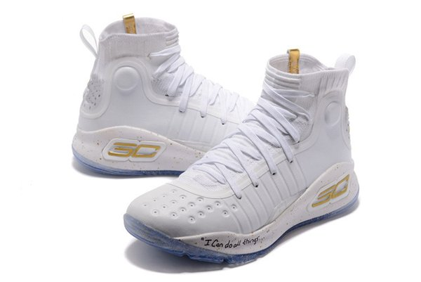 Curry 4 kids birthday for sale high quality Stephen Curry 4 Triple White  Mens Women Kids Basketball shoes wholesale price store US4-US12 ee099b0172