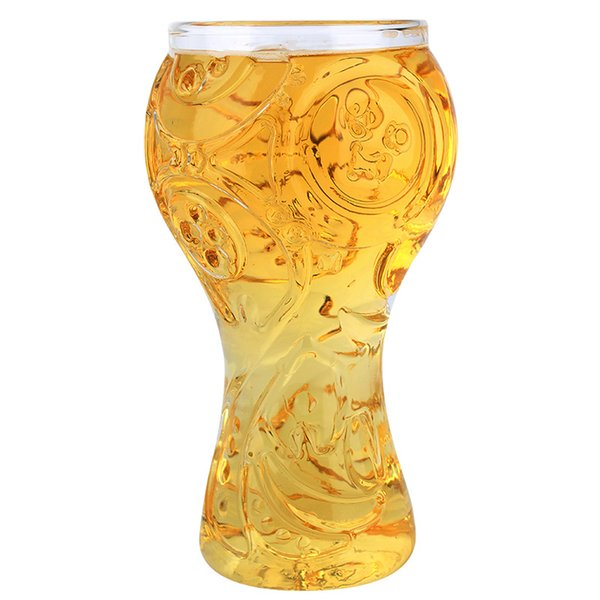 2018 World Cup Russian Football Gothic Glass Cup Party Creative Drinking Glass Authentic 3D Wine Glasses Mug Bar Whiskey Glasses Free Ship