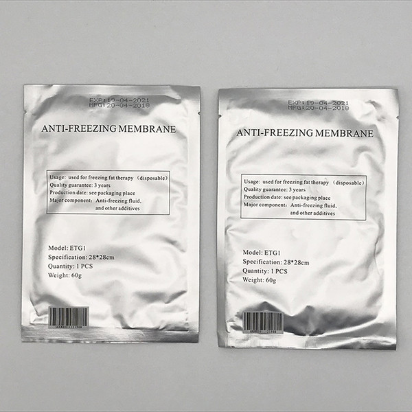 top popular MOQ 50PCS Antifreeze Membrane 28*28CM Antifreezing Membrane Anti-Freezing Membrane Pad For Fat Freezing CE DHL Free Shipping 2020