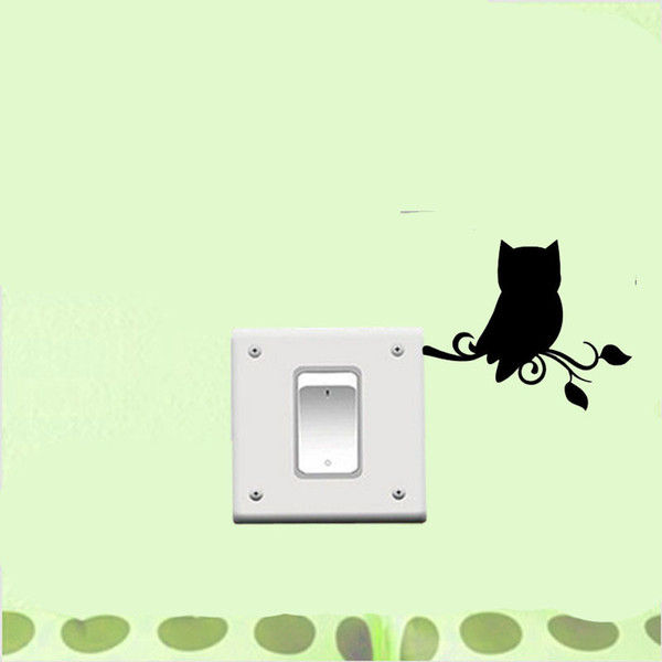 WANGZHIMING Unhappy Owl Bird Wall Simple Animal Vinyl Decal Decor Switch Sticker Artistic High Quality