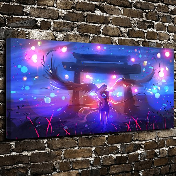 Modern Art Print Giclee Dazzle Colour Super Angel Hero Painting Abstract on the Canvas Poster Painting Prints Wall Decor Poster