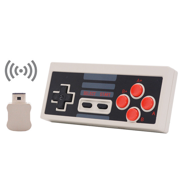 top popular Mini Game Joystick Wireless Turbo Controller USB Plug and Play Gaming Gamepad for NES Classic Edition for Nintendo NS 30pcs lot 2019