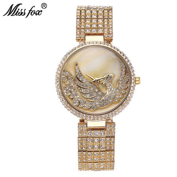 Phoenix Luxury Watch Donna con strass impermeabile Relojes Mujer 2017 Donna Top Brand Sobretudo Feminino Golden Clock