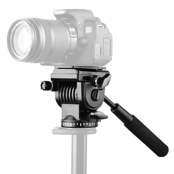 PULUZ Tripod Ball Head and Quick Release Plastic Heavy Duty Video Camera Three-Dimensional Tripod Fluid Drag Head Sliding Plate
