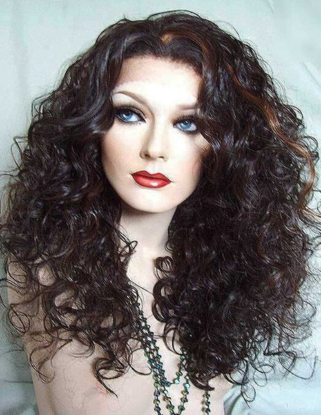 Style Qingdao 100% unprocessed aaaaa best remy virgin human hair long natural color deep wave full lace silk top wig for lady