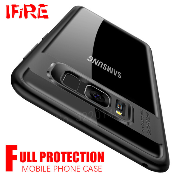 brand new 2bfd3 b1a7a Transparent Cover Case For Samsung Galaxy A5 A7 2017 Tpu & Pc Cover For  Samsung Galaxy S8 S8 Plus S7 Edge Note 8 Protective Case Mobile Phone  Bumper ...