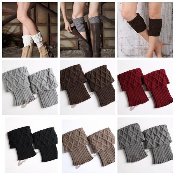 Frauen Winter Warm Knit Beinwärmer Crochet Gestrickte Socken Boot Manschetten Toppers Crochet Beinlinge Strick Boot Manschetten KKA3618