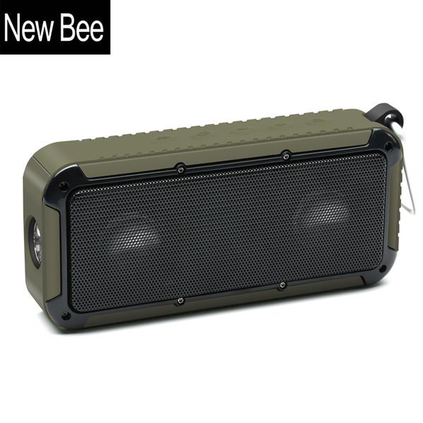 Outdoor Portable Waterproof Wireless Bluetooth Speaker Bike Soundbar with Microphone NFC Bicycle Mount LED Flashlight