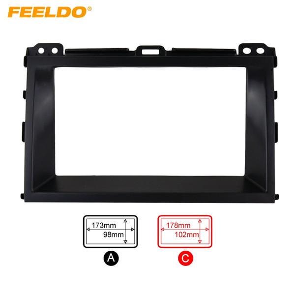 FEELDO Car Refitting Radio Stereo DVD Frame Fascia Dash Panel Installation Kits For Toyota Land Cruiser Prado(J120;2002-2009) #1859