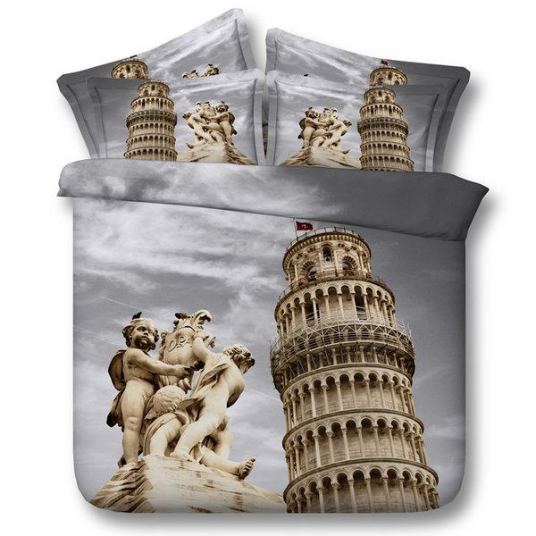 3D Castle Duvet Cover sets Architecture bedding sets queen scenery Bedspreads Holiday Quilt Covers Bed Linen Pillow Covers bedspreads