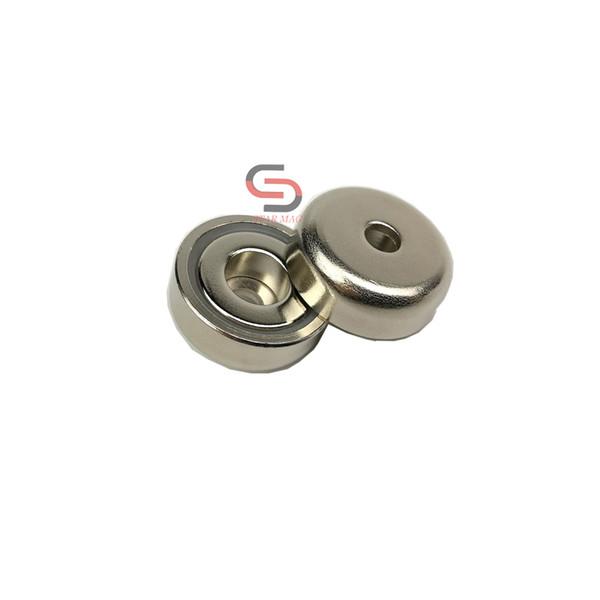 20PC 11KG Neodymium Steel Shell Magnet Pot D20*7mm Through-hole 4.0/8.0mm Rare Earth Speaker Precision Machine Fixture