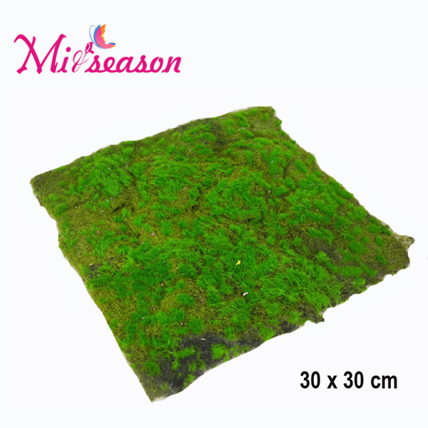 Wholesale-30X30cm Micro Landscape Artificial Moss Grass Lawn Turf DIY Mini Fairy Garden Simulation Plants Home Landscaping Wall Decor
