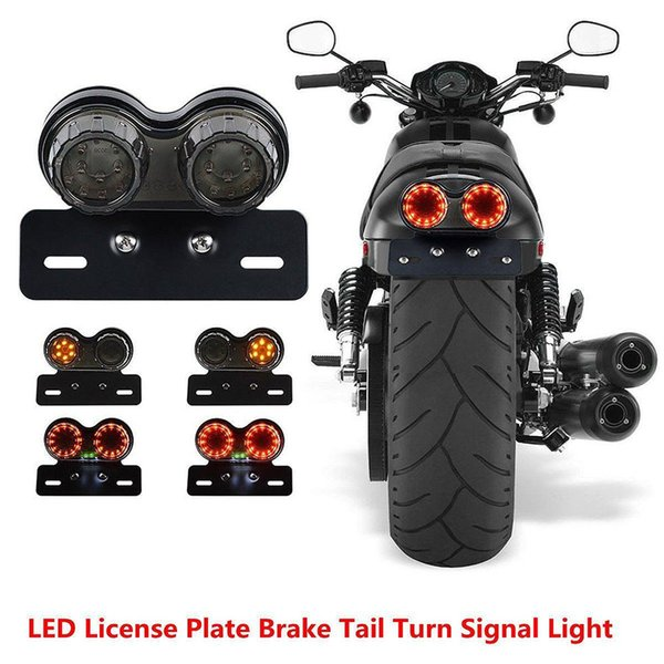 best selling Motorcycle Integrated Tail Light LED Twin Dual Turn Signal Brake License Plate For ATV ktm exc