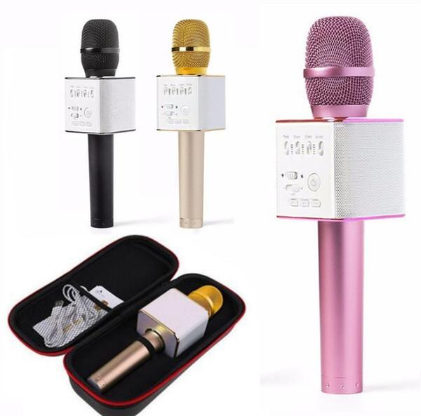 Handheld Q9 Microphone Magic KTV Wireless Speaker with Mic Handheld Loudspeaker Portable Karaoke Player bluetooth speakers For cell phone