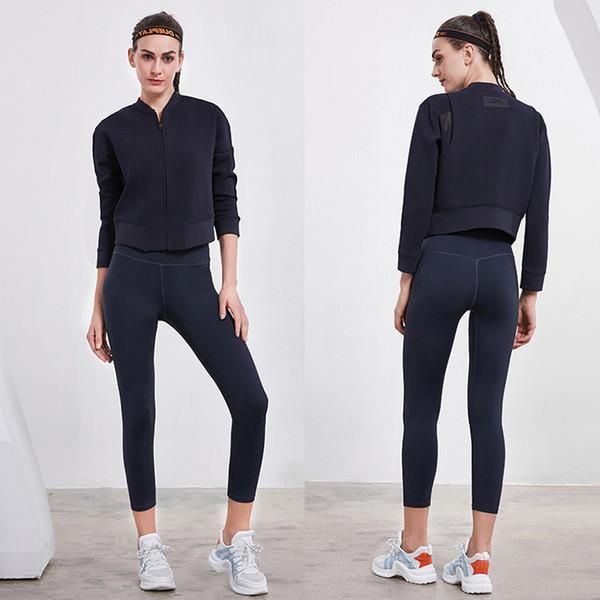 Frauen warme weibliche lauf pullover kragen langarm reißverschluss jacke zurück spleißen garn persönlichkeit winter schlank outwear