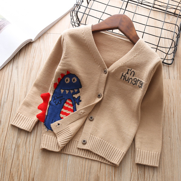 Boys Spring Autumn Tops Shirt Baby Clothing For Girl Little Boy Cardigan Knitted outerwear Kids Clothes Sweater 5 years Birthday