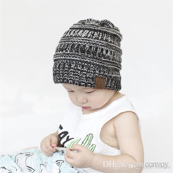 Compre Nuevos Sombreros Del Bebé Cc Trendy Beanie Gorros De ...