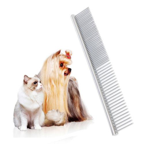 New Trimmer Grooming Comb Brush Stainless Steel Pet Dog Cat Pin Comb Hair Shedding Grooming Flea Comb high quality