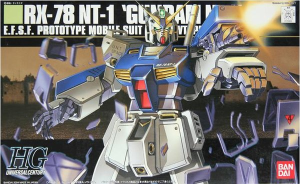 1PCS Bandai HGUC 047 1/144 RX-78 NT1 GUNDAM NT-1 Mobile Suit Assembly Model Kits lbx toys Anime action figure TOYS Gunpla