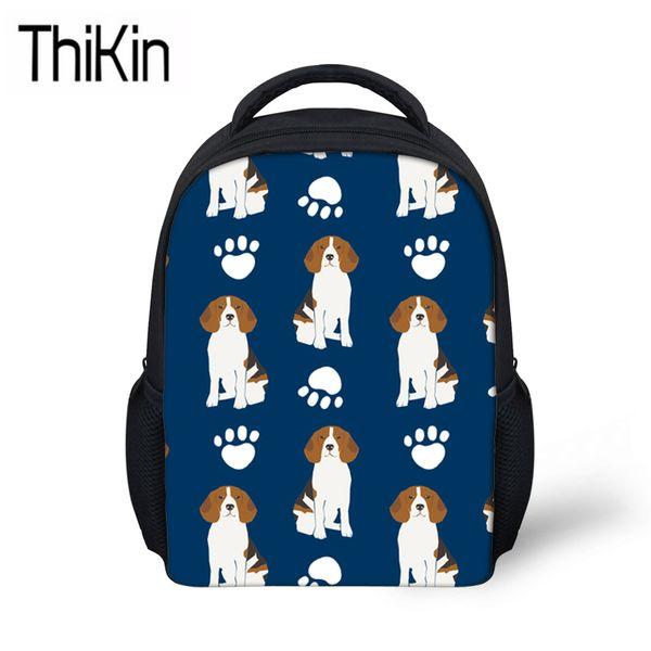THIKIN Kindergarten Backpacks for Kids Beagle Dog Printing Shoulder Backpacks Children Mini School Bags Girls Small Schoolbag