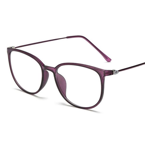 Poids léger Optique surdimensionné Lunettes Cadre Femmes Transparent Lentille Grand Lunettes TR90 Métal Lunettes Lunettes Vintage Oculos Noir
