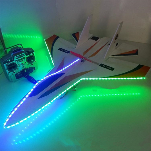 Flash led rc jet shatter resistant foam model rc airplane 6ch remote control plane large glider toys