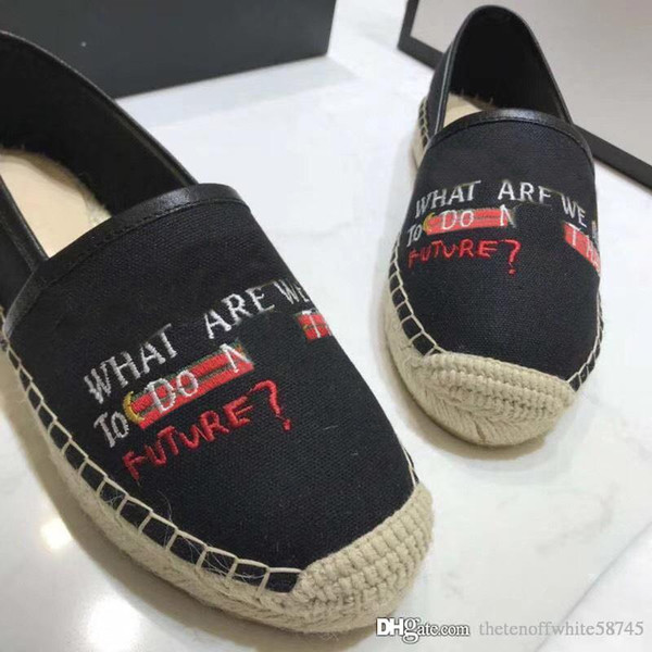 2018 Newest Style Summer Women Fashion Imported Calico Inner Sheepskin Europe Luxury Brand Black Fisherman Shoes Flat Casual Shoes 36-40
