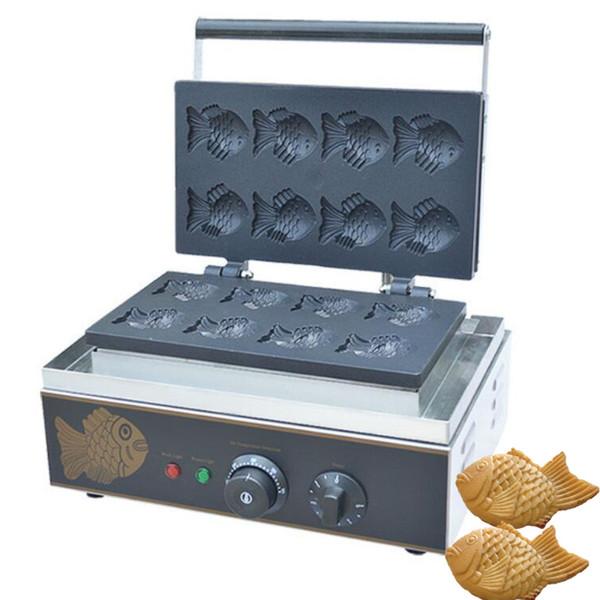 Qihang indu trial korean mini taiyaki maker commercial taiyaki machine tainle teel electric taiyaki maker