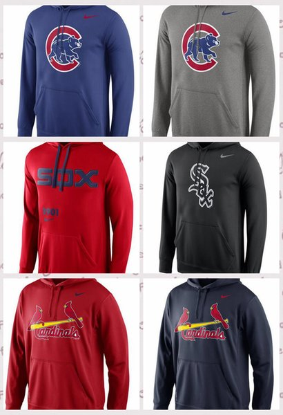 Chicago Chicago Chicago St. Louis Cardinals Royal Logo Leistungs-Pullover Hoodie