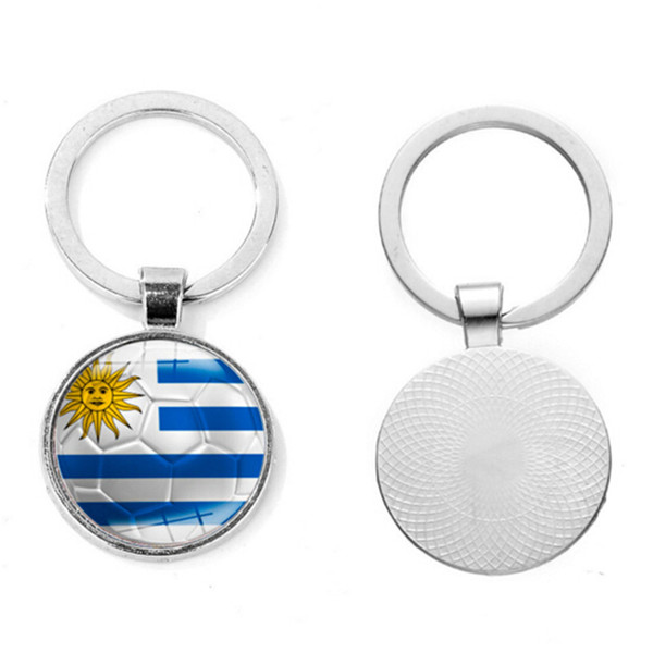 top popular 2018 Russia World Cup Football Keychain Football Match Key Buckle Metal Aluminum Alloy Country Flag Souvenir Gift 2019