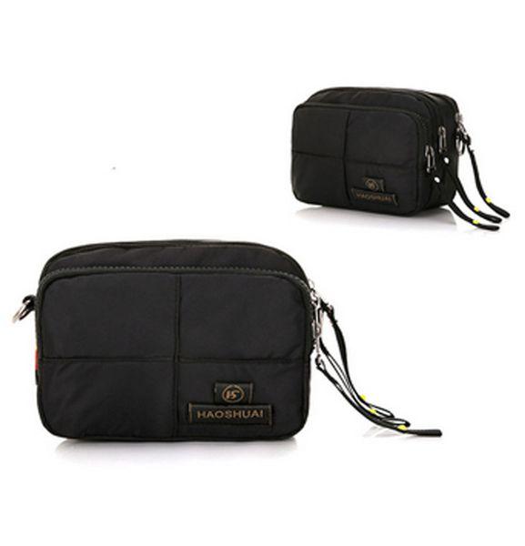 Men Nylon Belt Fanny Waist Pack Travel Riding Phone Case Holder Shoulder Messenger Pouch Purse Wallet