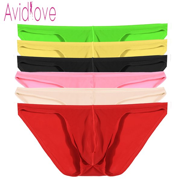 Avidlove Men Brief Breathable Sexy Ice Silk e Underpants Perspective Erotic Sexy Underwear 7 Colors M-4XL U2