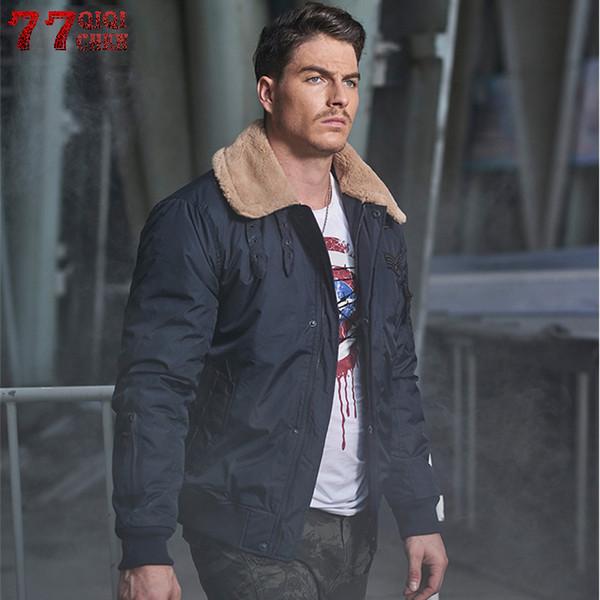 qiqichen 2018 thick warm winter jacket men parka men turn down fur collar luxury parkas hombre overcoat  jacket men