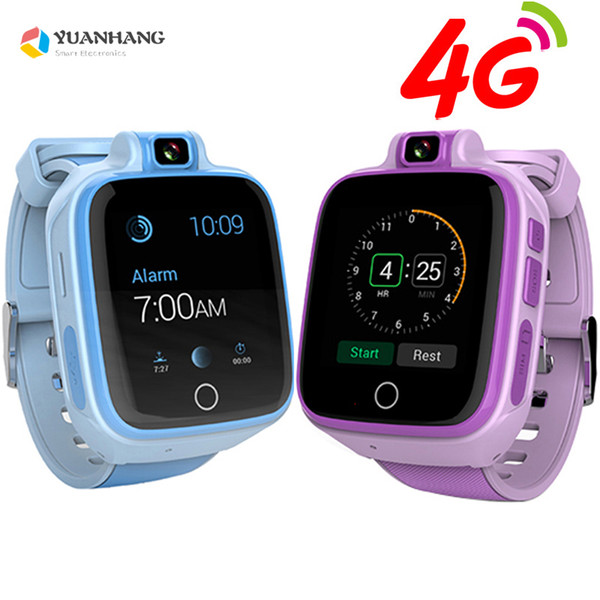 Remote Camera GPS Tracker Location Kid Child Student 4G Smart Wristwatch SOS Whatsapp Video Call Monitor Alarm Android 6.0 Watch
