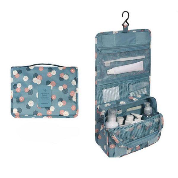 Portátil Pendurado Cosméticos Caso Organizador Flor Impresso Saco De Armazenamento De Maquiagem de Viagem Wash Wash Bag Organizador RD838502