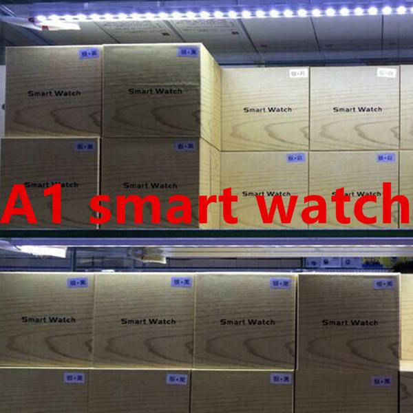 A1 Bluetooth Smart Watch prend en charge la fente pour carte SIM Health Watchs pour Android Samsung et IOS iphone Smartphone Bracelet Smartwatch