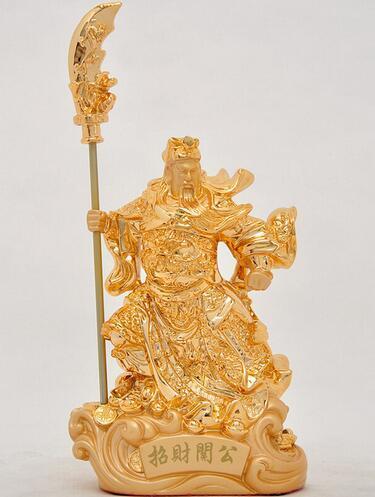 ZSR625> Decoración Guan Gong Wu Buddha zhaocai artesanías muebles TV gabinete Decoración