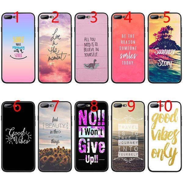 Fundas Celulares Proverbio Frase Lema Good Vibes Only Love Funda De Teléfono Tpu Negra Suave Para Iphone Xs Max Xr 6 6s 7 8 Plus 5 5s Se Cubierta