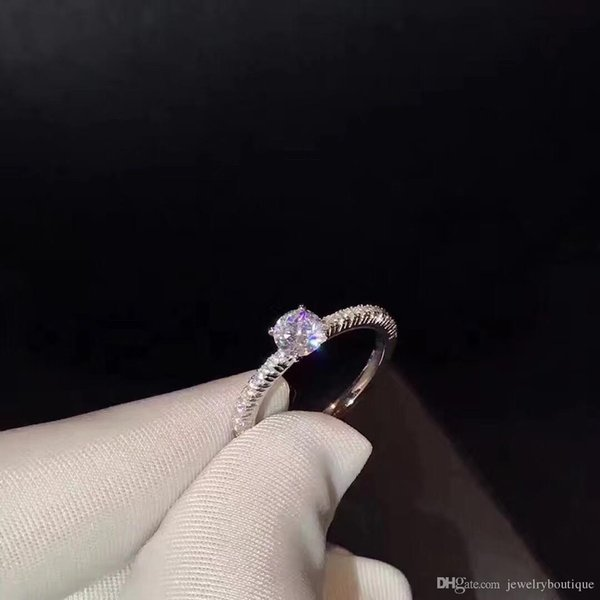 S925 Sterling Silver CZ Diamond RING with LOGO and Original box Fit Wedding Ring Engagement Jewelry for Women PS5440
