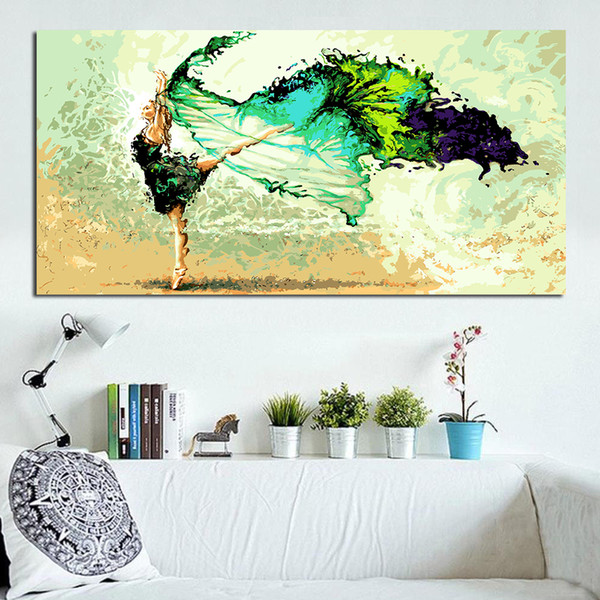 Wall Canvas Art Pictures Figure Painting Butterfly Dance Ballet Oil Painting For Living Room Home Decor No Frame