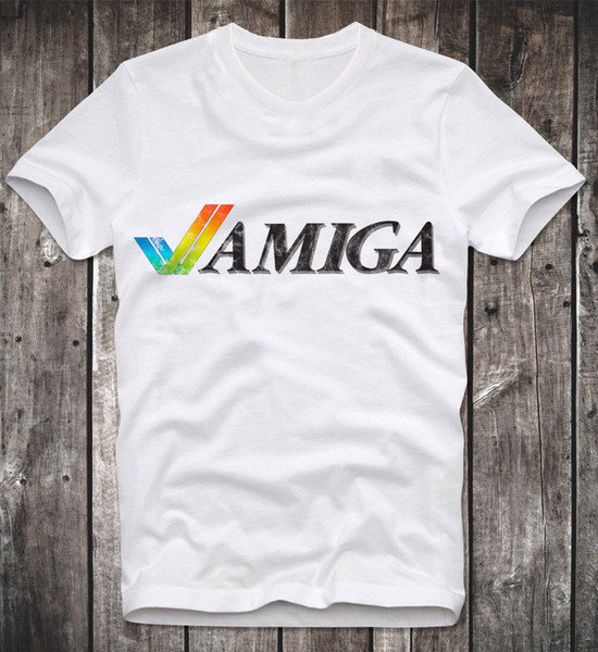 T SHIRT COMMODORE C64 AMIGA GAME GAMER GAMING ATARI WORKBENCH CULT VINTAGE RETRO 2018 New Men T-Shirts top Quality Cotton