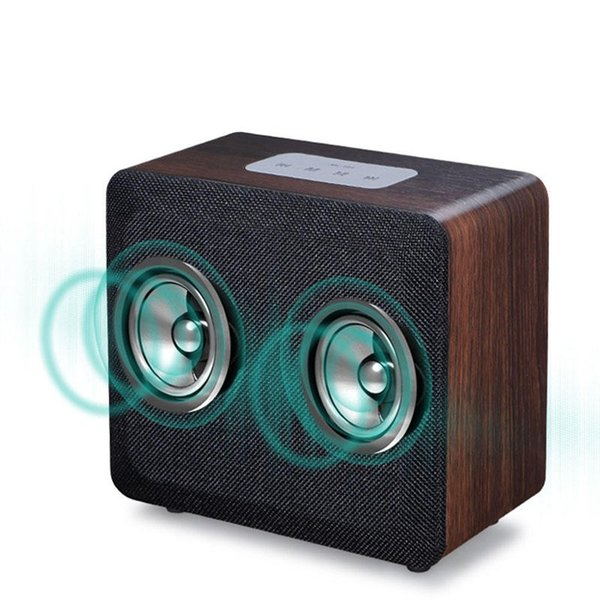New Style Mobiles Wireless Bluetooth Speaker Alarm Clock Wooden Home Retro Radio Timebox LED Digital Table Music Clock