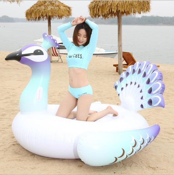 Inflable Unicorn Swan Swan Flamingo Pool Toy PVC ambiental Fila flotante para vacaciones de verano Partido de la diversión anillo de natación inflable KKA5122