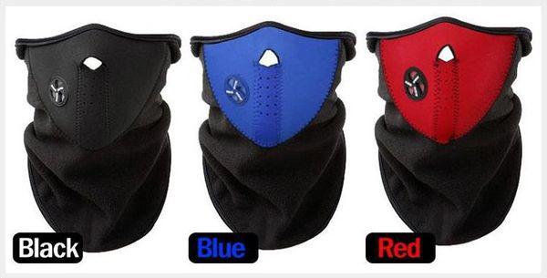200pcs Neoprene Neck Warm Half Face Mask Winter Veil Windproof For Sport Bike Bicycle Motorcycle Ski Snowboard Outdoor Mask Men Women SN2179