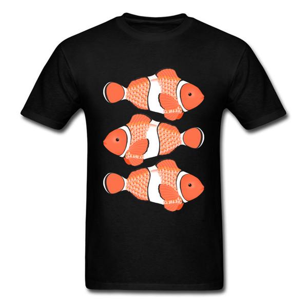 Custom Clown Fish T Shirt Print Men Tshirt Short Sleeve T Shirts Cute Cartoon Clothing Family Tops Christmas Gift Tee Shirt Red