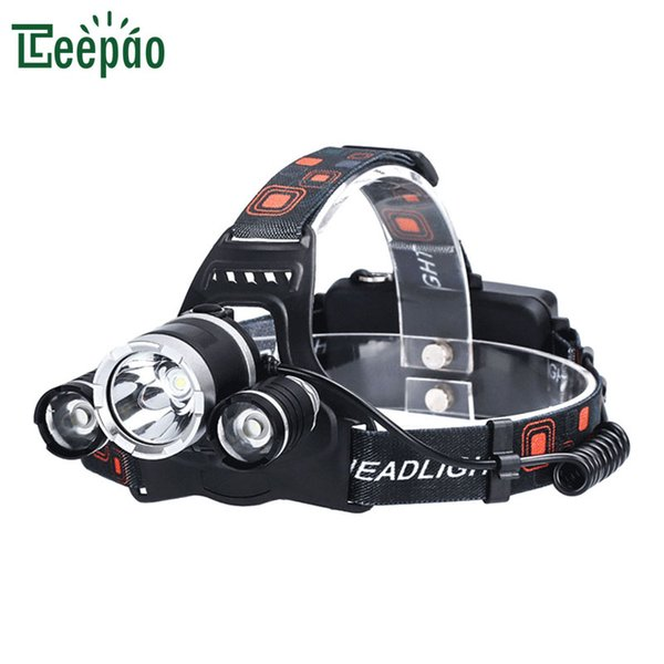 3 Led Headlight Portable Headlamp T6 Waterproof Headlight Zoomable Focus Rechargeable Outdoor Lighting Headlamps Camping Bicycle