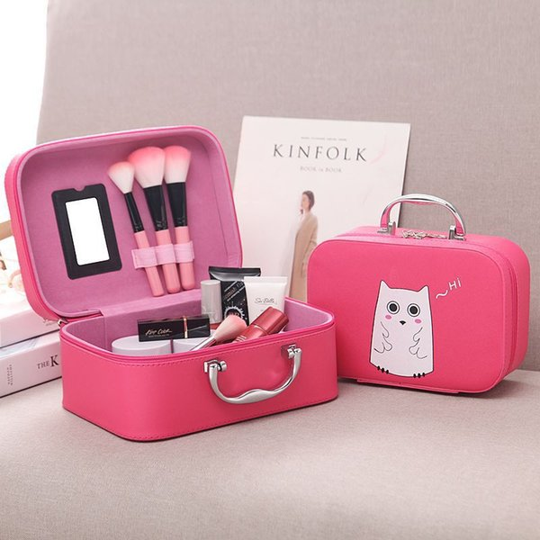 rosa bolsa de cosméticos