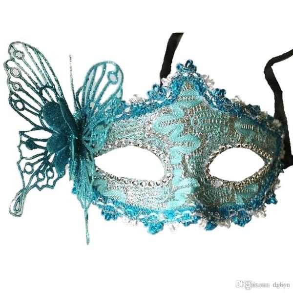 Al por mayor-Mujeres atractivas Máscara de encaje Bola de la mascarada veneciana Carnaval Cara, Ojo (verde)