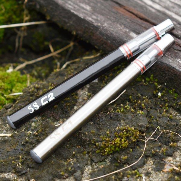 Neueste Einweg e zigarettenverdampfer stift vape 5 S c1 c2 Dicken öl galss zerstäuber. 3 ml. 5 ml extrakt ölpatrone stift mit keramikkern