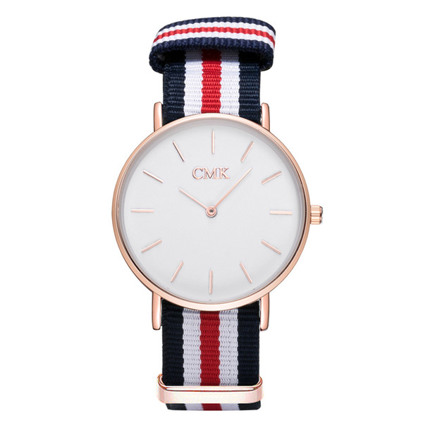 Brand CMK Nylon Strap Luxury Ultra thin Casual Quartz Women Watch Clock Simple Canvas Sports Men Watches Wristwatch reloj hombre